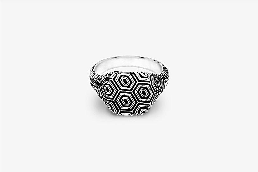 Anello Texture Geometrica Argento by Mama Schwaz Milano