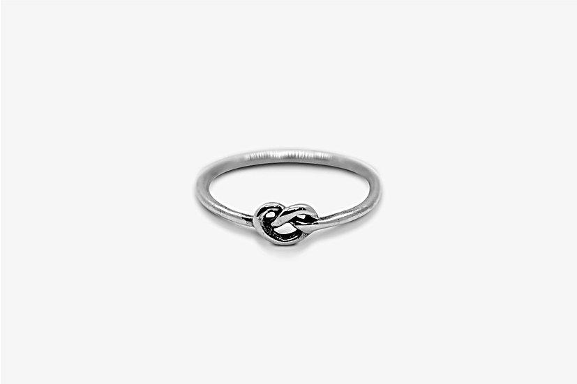 Single Knot Ring - Anello in argento 925, forma di nodo a filo singolo - Mama Schwaz Shop Milano