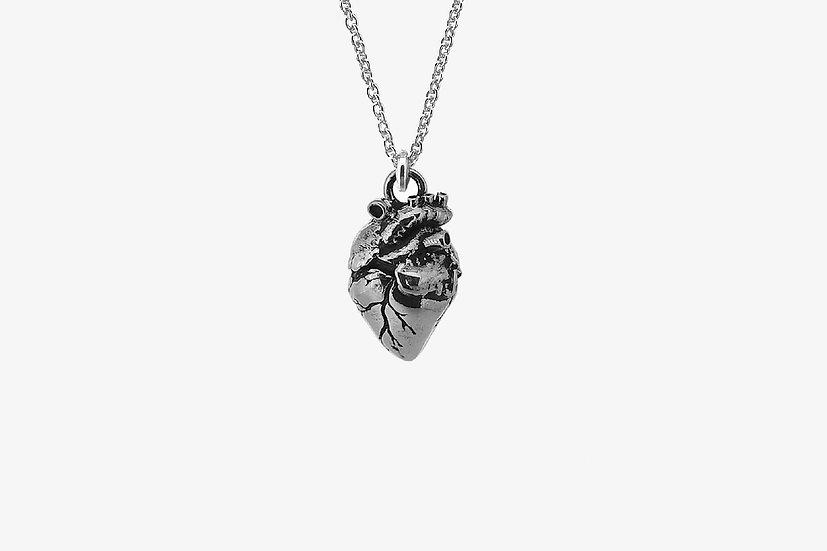 Ciondolo cuore anatomico piccolo - Small Anatomical Heart Pendant - Mama Schwaz Milano