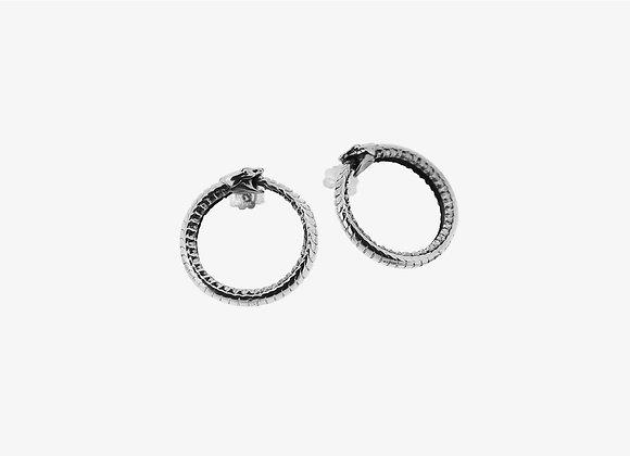 Orecchini grandi Uroboro - Big Uroboro Earrings by Mama Schwaz Milano