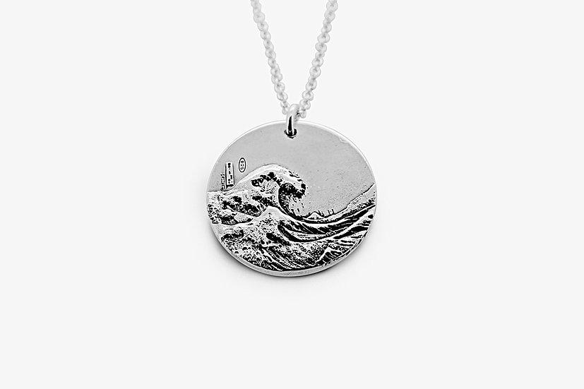 Ciondolo Onda di Hokusai 2,5 cm Argento