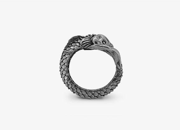Anello Carpa Grande - Big Carp Ring - Mama Schwaz Gioielli Argento 925