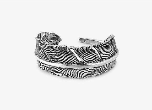 Bracciale Piuma Grande - Big Feather Ring - Mama Schwaz shop online Milano