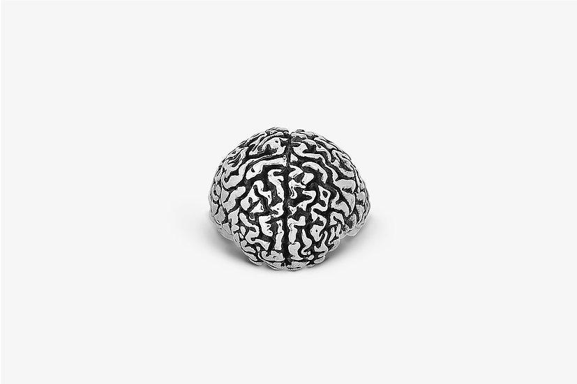 Anello Cervello Argento