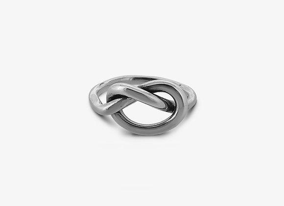 Anello nodo singolo grande - Big Single Knot Ring - Mama Schwaz Milano Gioielli