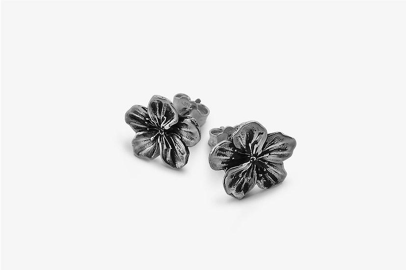Orecchini Fiore di Ciliegio Argento