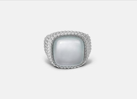 Anello borchiato con calcedonio - Studded Chalcedony Ring - Mama Schwaz shop online Milano