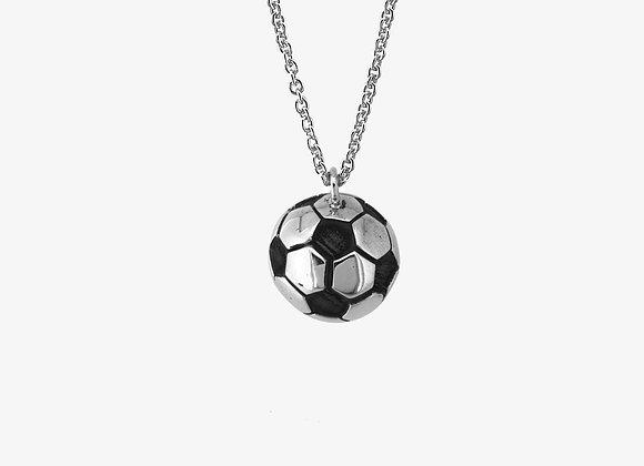 Ciondolo palla da calcio 3D - soccer ball pendant - Mama Schwaz Milano