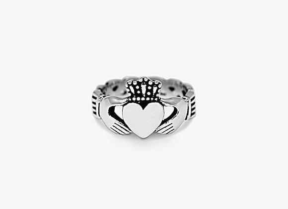 Wide Claddagh Ring