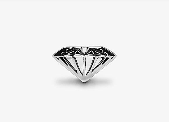 Anello diamante largo - Wide Diamond Ring by Mama Schwaz Milano