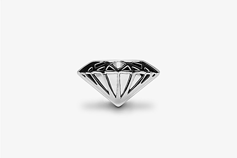 Anello Diamante Largo Argento by Mama Schwaz Milano