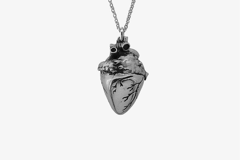 Ciondolo cuore anatomico - Anatomical Heart Pendant - Mama Schwaz Milano Gioielli