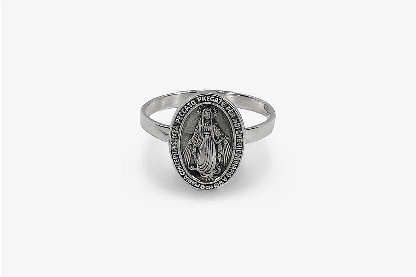 Anello Madonnina - Small Madonna Ring by Mama Schwaz Milano