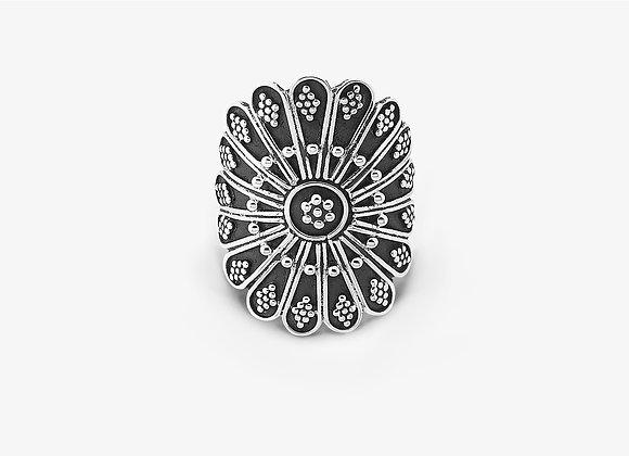 Anello Fiore Etnico - Ethnic Flower Ring - Mama Schwaz shop Milano