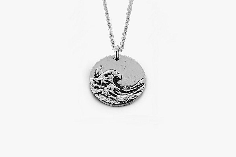 Ciondolo Onda di Hokusai 2 cm Argento