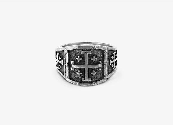 Anello croce di Gerusalemme - Jerusalem Cross Ring - Mama Schwaz shop online Milano