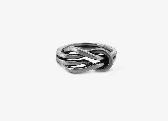 Anello doppio nodo medio - Medium Double Knot Ring - Mama Schwaz Milano Gioielli