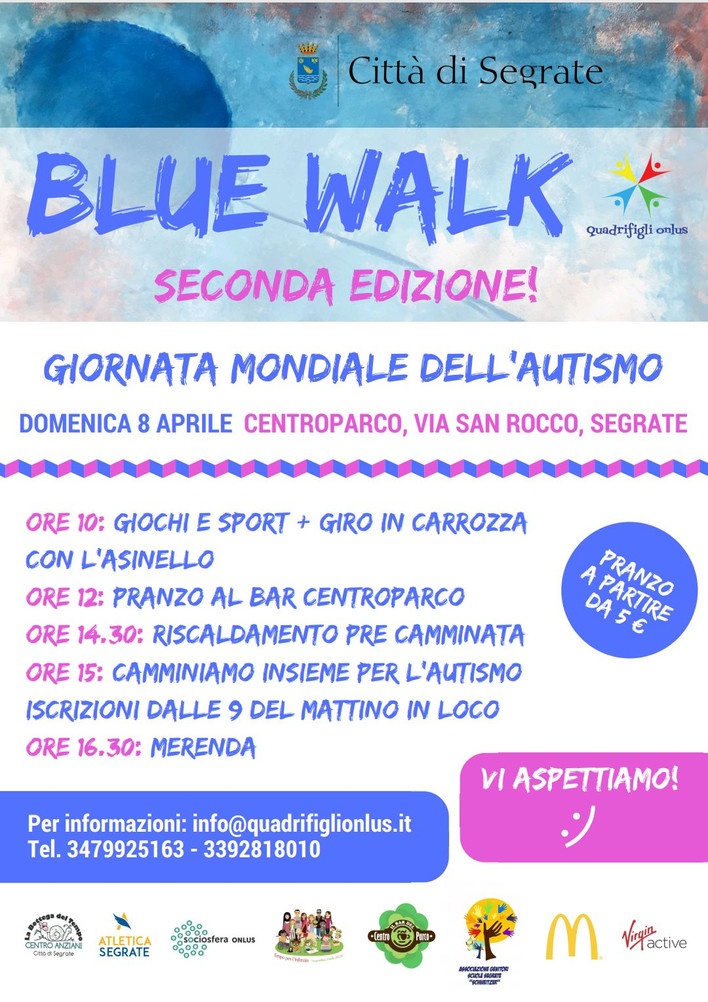 Blue Walk: marcia di sensibilizzazione per l'autismo