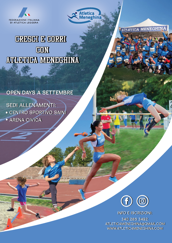 NEW!!! Atletica Meneghina al Centro Sportivo Saini: Open Days a Settembre!