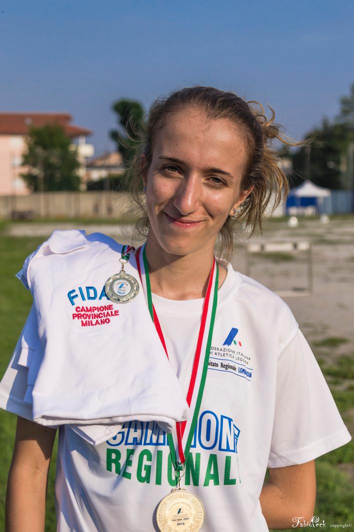 Rebecca Pecora: Campionessa Regionale e Provinciale del salto in alto!
