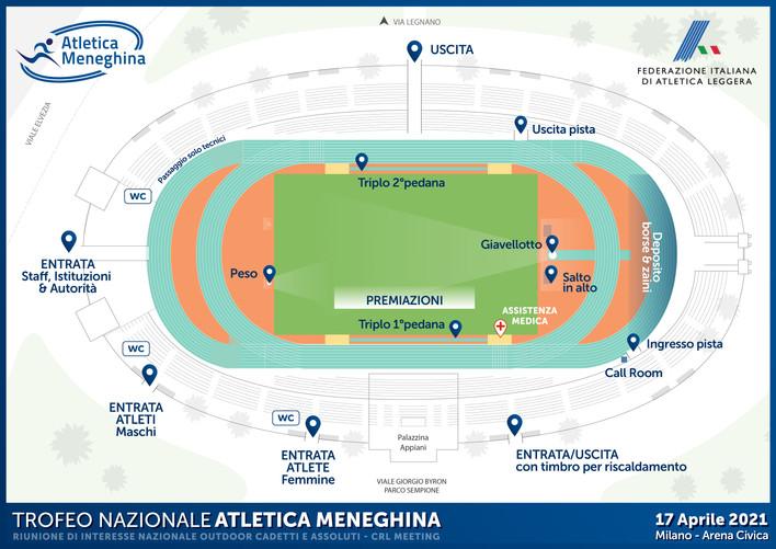 TROFEO NAZIONALE ATLETICA MENEGHINA: Sabato 17 Aprile - Arena Civica - Milano