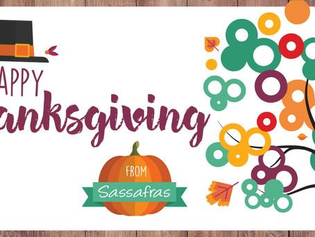 Happy Thanksgiving From Everyone at Sassafras Marketing!