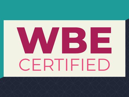 Sassafras Earns the Women's Business Enterprise (WBE) Certification