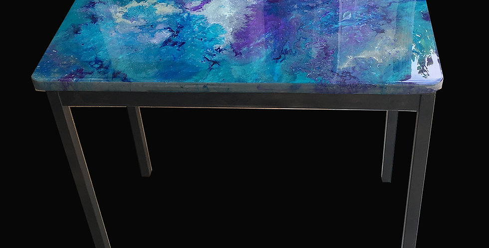 Beautiful Teal Blue Coffee Table