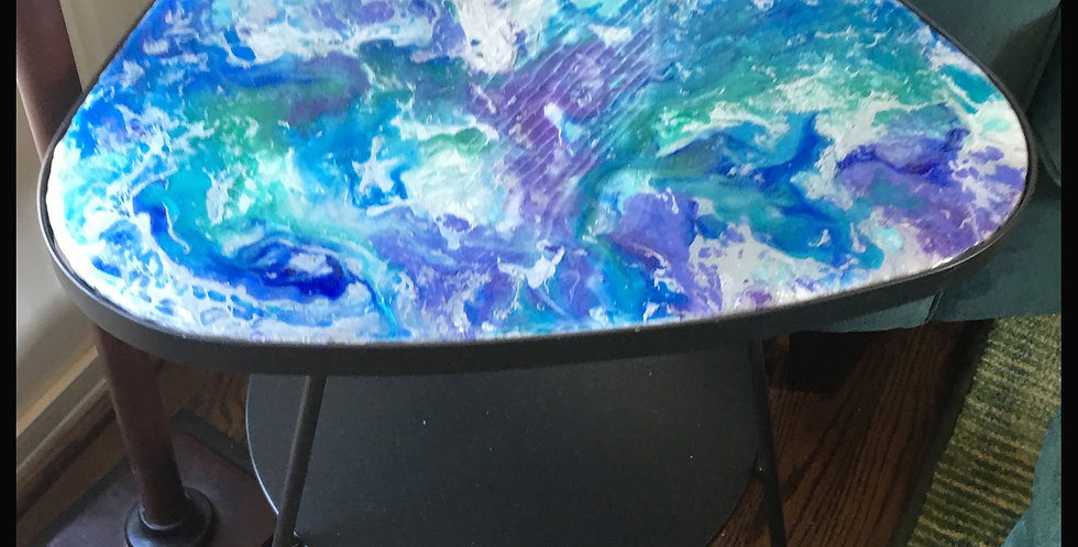 Blue Green End Table