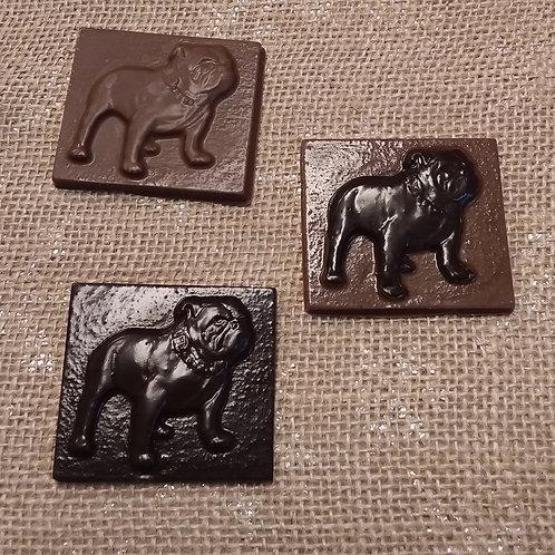 Bulldog mascot squares