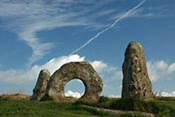 Men-an Tol ancient monument in Cornwall