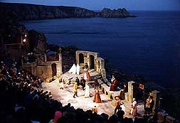 Minack Theatre performance at night