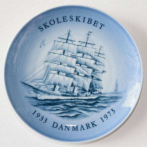 1933-1973 Bing & Grondahl SHIP Plate | SKOLESKIBET DANMARK