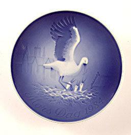 1984 B&G Stork and Nestlings