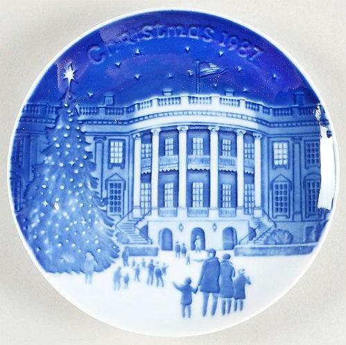 B&G  1987 Christmas in America Plate   WHITE HOUSE