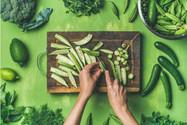 veganer-kochkurs-online-gruenes-gemuese-