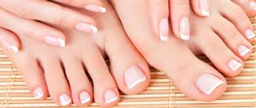 French Polish fingers and toes