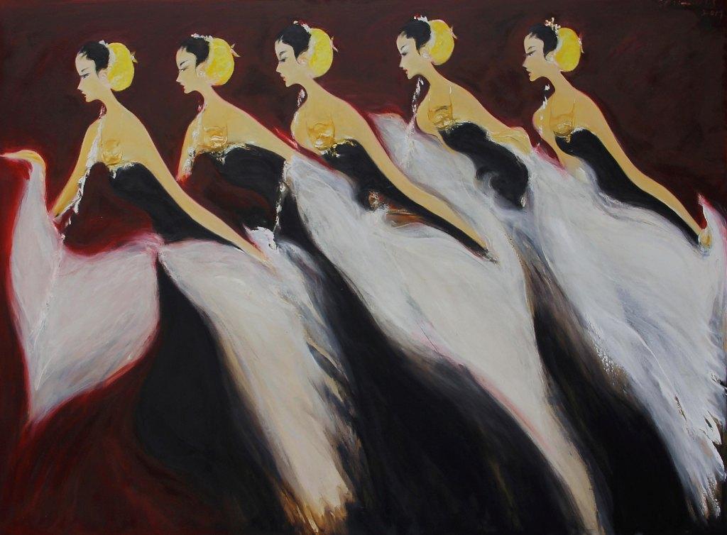 SRIHADI S_Bedaya (Moment of  contemplation)_Oil On Canvas_200 x 300cm_2017