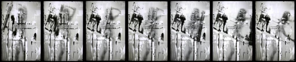 Erika Ernawan - 7 panels of gesture      - Digital Print on perspex- LED - 40 x 60 cm - 2017
