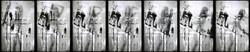 Erika Ernawan - 7 panels of gesture      - Digital Print on perspex- LED - 40 x 60 cm - 2017