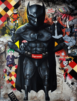 OKY REY MONTHA - SUPREME - 200 x 150 cm - 2017 - Acrylic and Spraypaint on Canvas