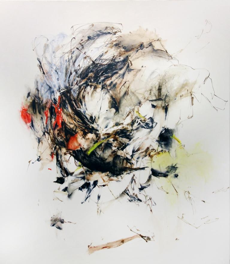 Ay Tjoe Christine - Flaying Rock -    135 x 150 cm - 2017 - Acrylic on canvas