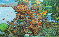 Suraji -Indonesia Zoo II 300 x 190,  Acrilic, Oil Tahun 2016
