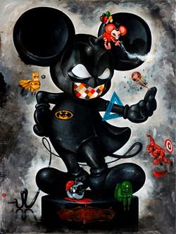 OKY REY MONTHA - THE BAT MOUSE - 200 x 150 cm - 2017 - Acrylic on Canvas