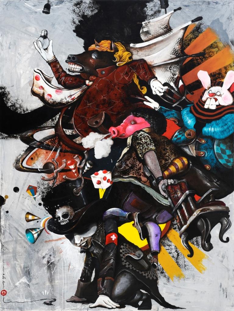 Oky Rey Montha - Conspiracy - 200 x  150 cm - 2016