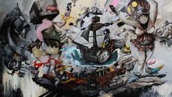 Oky Rey Montha - self Polution -  150 x 250 cm - 2017 - AOC - hires