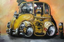 Oky Rey Montha - Yellow Trip - 200 x 300 cm -2018 -  Acrylic on Canvas