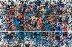 Kolabrprasi - Montage - 240 x 360      cm -( 18 panels ) 2017 - mix media in perfex sheet
