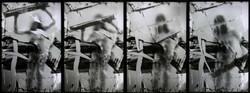 Erika Ernawan - 4 panels of gesture      - Digital Print on Perspex- LED - 50 x 75 cm - 2017