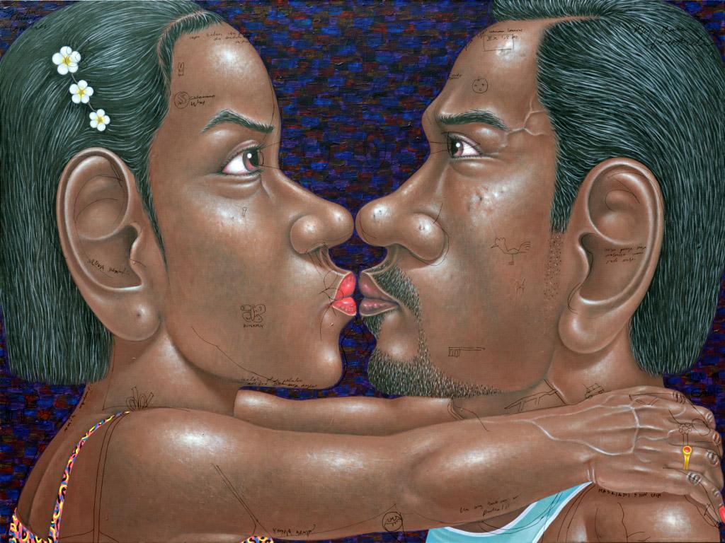 Nyoman Masriadi - Keep Your Eyes   Open  - 150 x 200 cm - 2017 - Acrylic on Canvas
